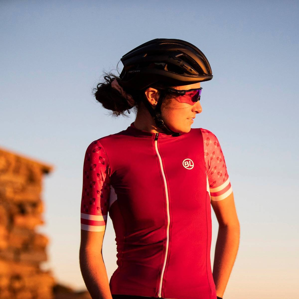 Maglia manica corta ciclismo donna Ninfea viola