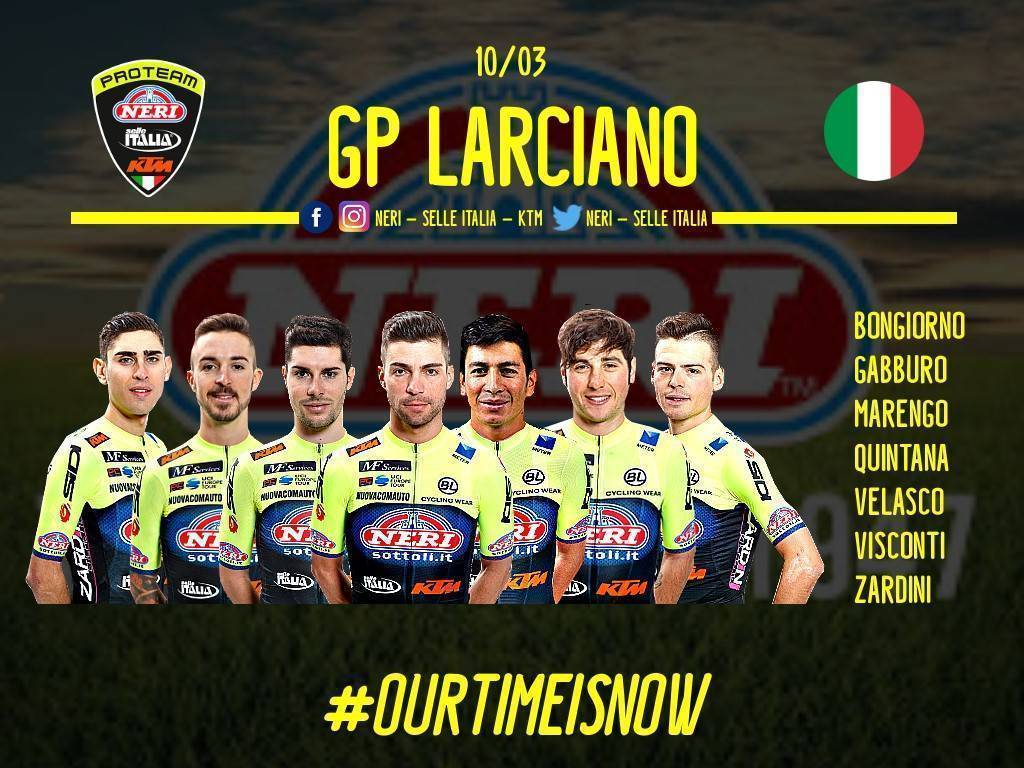 Convocati gp Larciano Team Neri Sottoli - Selle Italia - KTM
